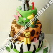 Jungle Animal Cake 3 Tier