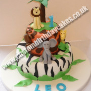 Jungle Animal Cake 2 Tier