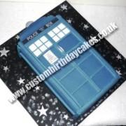Doctor Who Tardis Cake