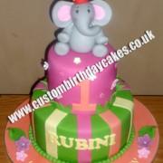 Elephant Jungle Cake