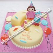 Dora Explorer Number Cake