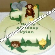Jungle Animal Number Cake