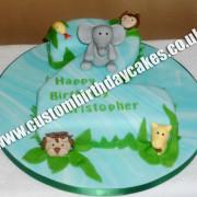 Number Animal Cake