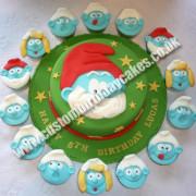 Smurf Cake & Cupcakes