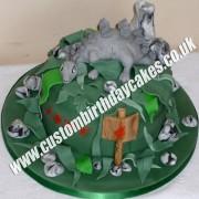 Stegosaurus Dinosaur Cake