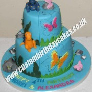 Dinosaur and Butterfly Cake